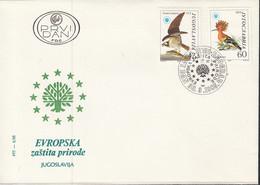 JUGOSLAWIEN  2100-2101, FDC, Europäischer Naturschutz, Europa Mitläuferausgabe, 1985 - 1985