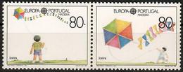 Portugal / Madeira 1989  Mi.Nr. 125 / 126 , EUROPA CEPT - Kinderspiele -  Postfrisch / MNH / (**) - Unused Stamps