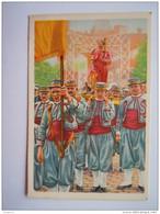 """Chromo Côte D'Or Belgische Folklore Belge 50 Thuin Saint-Roch Zouaves Dans La """"Marche"""" Procession Heilige Rochus """"marsch - Côte D'Or"""