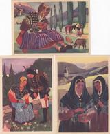 Lot De 3 Cpa  - Illustr. - P. Welcomme- La Savoie - Edi Arts Regionaux - Welcome P.