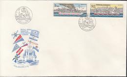 TSCHECHOSLOWAKEI  2679-2680, FDC, 125 Jahre Donaukommission, Europa: Mitläufer-Ausgabe, 1982 - 1982