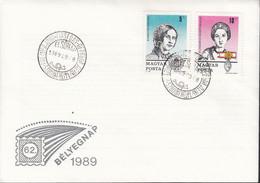 UNGARN  4048-4049 A, FDC, Tag Der Briefmarke, 1989 - FDC