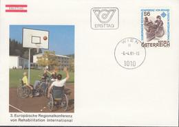 ÖSTERREICH  1667, FDC, Europ. Regionalkonferenz Von Rehabilitation International, Europa: Mitläufer-Ausgabe, 1981 - 1981
