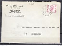 Brief Van Thuillies Naar Familleureux - 1970-1980 Elström