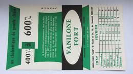 Buvard  Ancien , Pharmacie , VANILONE FORT , Laboratoire  ANA . - Sin Clasificación