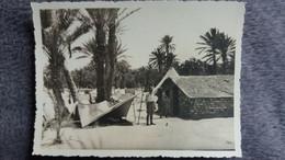 PHOTO D  AFRIQUE DU NORD ALGERIE ? MAISON TENTE PLAMIER SOLDAT  FORMAT 11.5 PAR 8.5 CM OCCUPATION FRANCAISE - Plaatsen