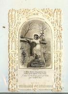 CANIVET DE 1863 IMAGE RELIGIEUSE DEMEURE DU DIVIN MAITRE IL FRANCHIT LES OBSTACLES QU ON OPPOSE A SON ENTREE - Devotion Images