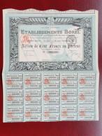 DECO Action De 100 Francs Or 1918 Borel Aviation - Aviazione