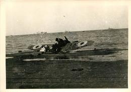 DUNKERQUE MALO 1940  AVION ABATTU  PHOTO ORIGINALE  12.50 X 9 CM - Oorlog, Militair