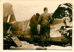 DUNKERQUE MALO 1940  AVION ABATTU  PHOTO ORIGINALE  12.50 X 9 CM - Guerra, Militares