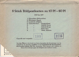 BRD - BILDPOSTKARTEN 1961/08 #2/2-2/9 /AS181 - Cartes Postales Privées - Neuves