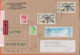 FRANCIA - France - 2002 - 2 X Potez 25 Poste Aérienne - Marianne De Luquet Rouge + 2,00 Liberté De Gandon - VD Valeur Dé - Cartas