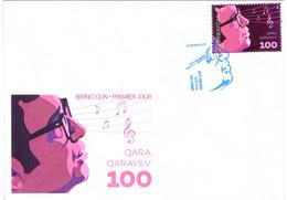 FDC First Day Cover Azerbaijan Stamps 2018. Gara Garayev 100 Anniversary. Composer - Azerbeidzjan
