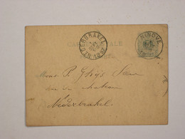 Belgique : Entier 17 De Ninove Pour Nederbrakel - Cartoline [1871-09]