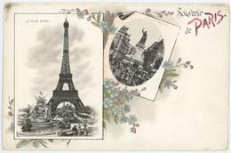 75 Paris Précurseur Souvenir De ... Tour Eiffel Et Place De La République - Otros