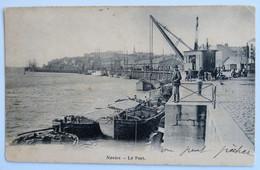 C. P. A. : 44 NANTES : Le Port, Grue, Animé, Timbre En 1903 - Nantes