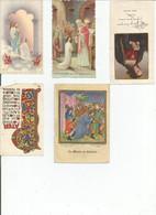 Lot De 5 Images Religieuses - Devotion Images