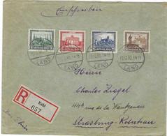 1930 / Bel Affranchissement Philatélique N° 427-428-429-430 / Sur Lettre Recommandée 657 De Kehl / Allemagne - Collections