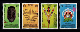 Nouvelles Hebrides - YV 559 à 562 N** Legende Française Complete Arts Locaux - Unused Stamps