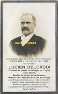 Delcroix Lucien ( Frasnes-les -buissenal 1850 / 1924 - Esquela