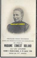 Léa Lousse - ( Braine-le-comte 1926 ) - Esquela