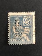 FRANCE C N°114 Mouchon CNE 307 Indice 4 Perforé Perforés Perfins Perfin Superbe !! Cote 10 € - Gezähnt (Perforiert/Gezähnt)