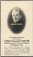 Carlier Fernand ( Abbé ) Curé De Montighy Le Tilleul - Binche 1877 / Charleroi 1942 - Esquela
