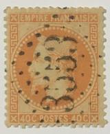 YT 31 (°) 1863-70 Napoléon III Lauré, 40c Orange (25 Euros) LGC 3553 St-Claud-sur-le-Son Charente (8 Euros) – Ciel - 1863-1870 Napoleone III Con Gli Allori