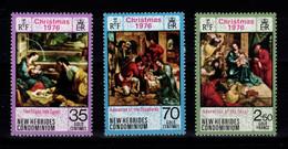 Nouvelles Hebrides - YV 441 à 443 N** Legende Anglaise Complete Noel 1976 - Unused Stamps