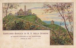 GENOVA-SANTUARIO BASILICA DI N.S DELLA GUARDIA-SUL MONTE FIGOGNA-CARTOLINA VIAGGIATA IL 21-9-1922 - Genova (Genoa)