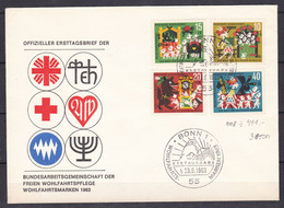 BRD - 1963 - Michel Nr. 408/411 - Ersttagsbrief - Used Stamps