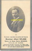 Nélisse Albert  - Tournai 1932 - Esquela