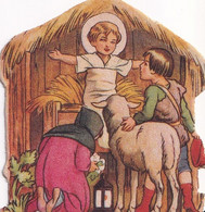 Enfant Jésus Dans La Crèche  Accueillant Les Bergers - Christmas