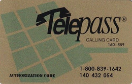 USA - Telepass By ITG Credit Calling Card, Used - Other