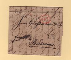 Allemagne - Essen - 1833 - Destination Bordeaux - PP AED Port Paye Affranchissement Jusqu A Destination - 1801-1848: Precursors XIX
