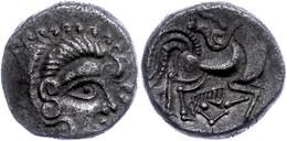 Gallien, Coriosolites, Billon Stater (6,40g), Ca. 100-50 V. Chr. Av: Stilisierter Kopf Nach Rechts. Rev: Stilisiertes Pf - Galle