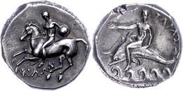 Tarent, Didrachme (7,83g), 281-272 V. Chr.. Av: Nackter Reiter Mit Schild Und Speer Zu Pferd Nach Links. Rev: Phalanthos - Non Classificati