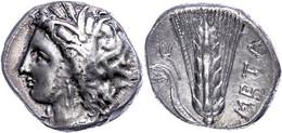 "Metapont, Stater (7,75g), 330-300 V. Chr.. Av: Kopf Der Demata Nach Links. Rev: Ähre Mit Blatt, Rechts ""META"". SNG ANS 4 - Non Classificati"