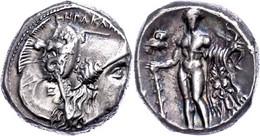 Herakleia, Stater (7,97g), Ca. 281-278 V. Chr. Av: Athenakopf Mit Korinthischem Helm Nach Rechts. Rev: Stehender Herakle - Non Classificati