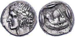Leontinoi, Tetradrachme (17,36g), Um 430 V. Chr. Av: Belorbeerter Apollokopf Nach Links. Rev: Löwenkopf Nach Links, Umge - Non Classificati