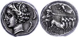 Lilybaion, Tetradrachme (17,11g), Ca. 360 V. Chr. Av: Quadriga Nach Rechts, Darüber Nike Nach Links. Rev: Kopf Der Tanit - Non Classificati