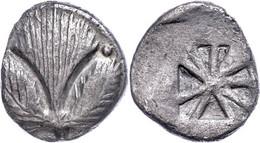 Selinus, Didrachme (8,33g), Um 500 V. Chr. Av: Eppichblatt Und Zwei Punkte. Rev: Quadratum Incusum. Vgl. SNG ANS 665, Ss - Non Classificati