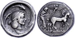 Syrakus, Tetradrachme (16,97g), Ca. 485-466 V. Chr. Av: Quadriga Nach Rechts, Darüber Nike. Rev: Arethusakopf Nach Recht - Non Classificati