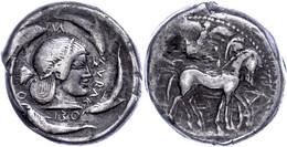 Syrakus, Tetradrachme (17,08g), Ca. 480 V. Chr. Av: Quadriga Nach Links, Darüber Schwebende Nike. Rev: Kopf Der Arethusa - Non Classificati