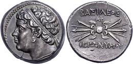 Syrakus, 10 Litren (8,43g), 215-214 V. Chr., Hieronymos. Av: Kopf Des Königs Mit Diadem Nach Links. Rev: Blitzbündel. SN - Non Classificati