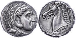 Karthager Auf Sizilien, Tetradrachme (16,97g), Ende 4. Jhdt. V. Chr.. Av: Herakleskopf Mit Löwenfell Nach Rechts. Rev: P - Non Classificati
