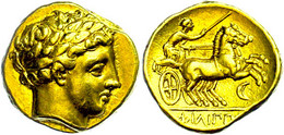 Stater (8,58g), Philipp II., 359-336 V. Chr., Amphipolis. Av: Apollokopf Nach Rechts. Rev: Biga Nach Rechts, Im Feld Rec - Non Classificati