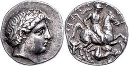Paionien, Patraos, Tetradrachme (12,72g), 340-315 V. Chr. Av: Apollonkopf Nach Rechts. Rev: Reiter Mit Lanze Ersticht Ei - Non Classificati