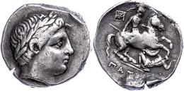 Paionien, Patraos, Tetradrachme (13,01g), 340-330 V. Chr. Av: Apollonkopf Nach Rechts. Rev: Reiter Mit Lanze Ersticht Ei - Non Classificati
