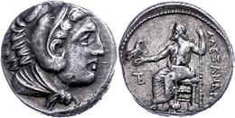 Tetradrachme (17,22g), 336-323 V. Chr., Alexander III., Amphipolis. Av: Herakleskopf Mit Löwenfell Nach Rechts. Rev: Thr - Non Classificati